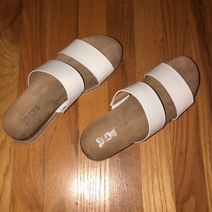 69eef3131b4 Payless Shoes - Payless SKYLINE TWO-BAND PLATFORM SANDAL